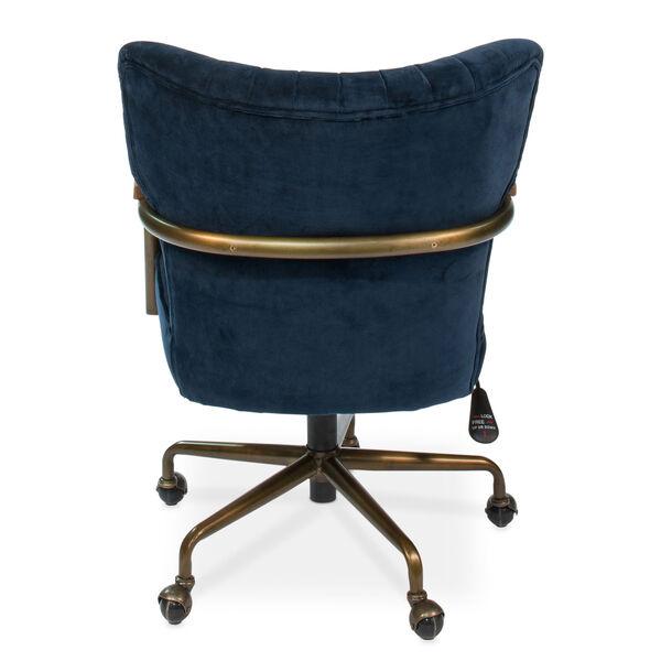 Blue Brooks Swivel Upholsterd Chairs, image 4