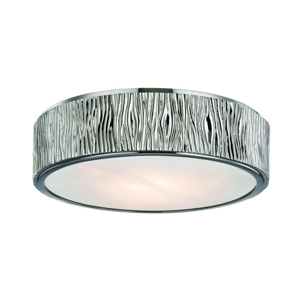 Crispin Polished Nickel 13-Inch LED Flush Mount, image 1