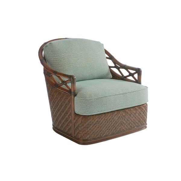 Bali Hai Brown, Green and Blue Diamond Cove Swivel Chair, image 1