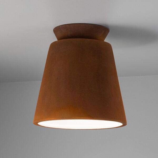 Radiance One-Light Ceramic Trapezoid Outdoor Flush Mount, image 2