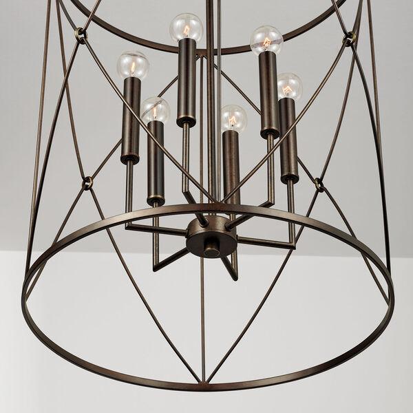 Adrian Buffed Bronze Six-Light Foyer Pendant, image 5