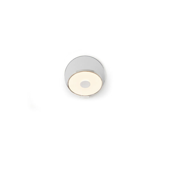 Gravy Chrome Silver LED Hardwire Wall Sconce, image 1