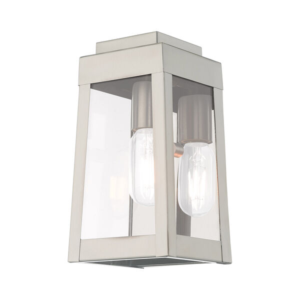 Oslo Brushed Nickel 5-Inch One-Light Wall Lantern, image 5
