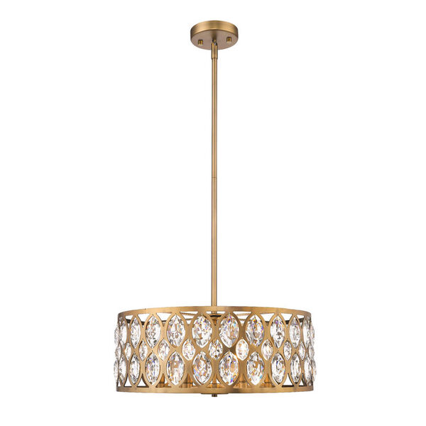 Dealey Heirloom Brass Six-Light Chandelier With Transparent Crystal, image 3