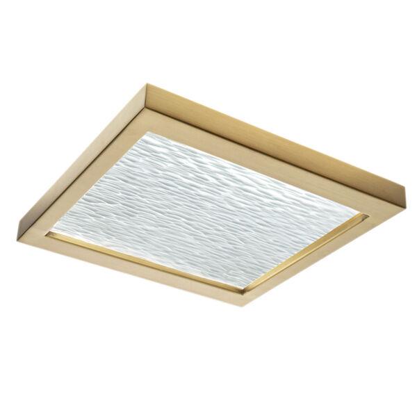 For-Square Satin Brass 12-Inch LED Flush Mount, image 1