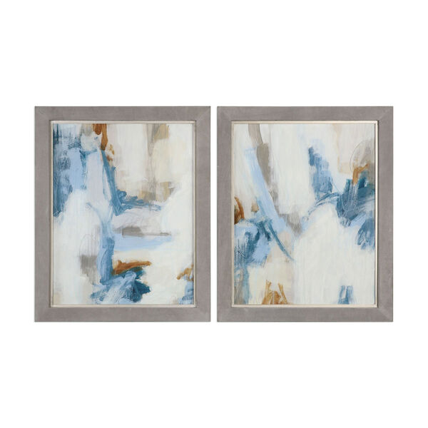 Intermittent Abstract Modern Art, Set of Two, image 1