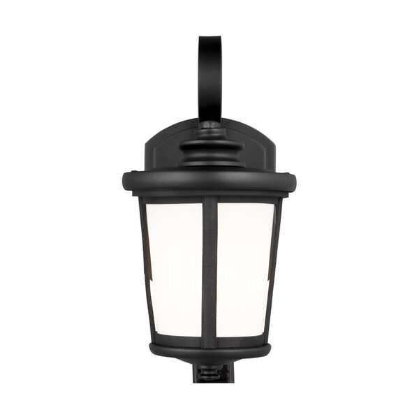 Eddington Black One-Light Outdoor Wall Sconce with Cased Opal Etched Shade, image 1