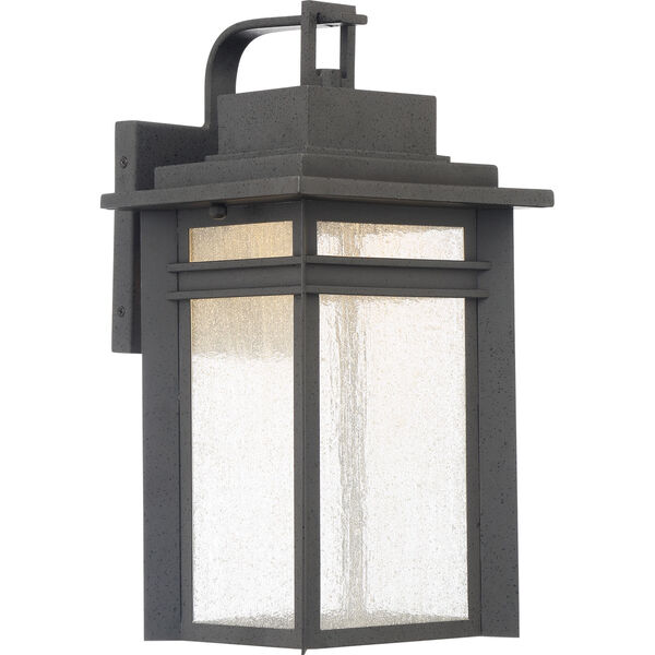 Beacon 16-Inch Stone Black LED Outdoor Wall Sconce, image 1