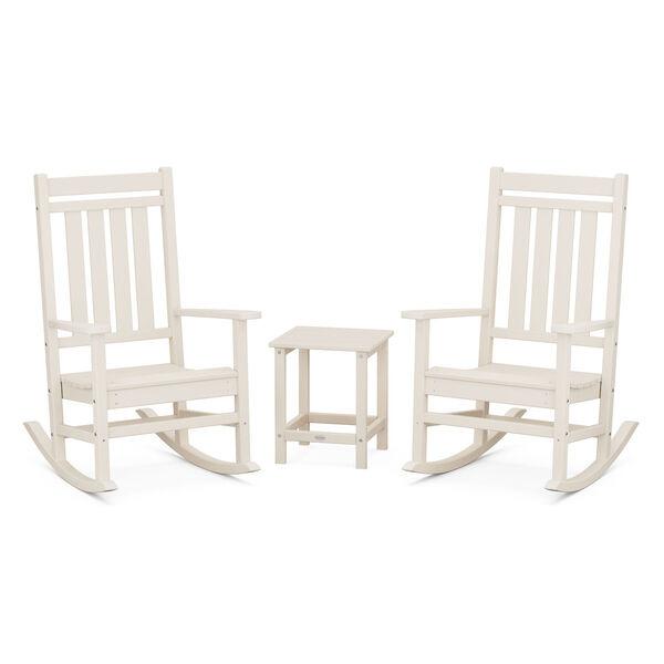 Estate Sand Outdoor Rocking Chair Set with Side Table, 3-Piece, image 1