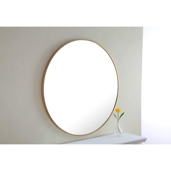 Eternity Brass Round 32-Inch Mirror, image 1