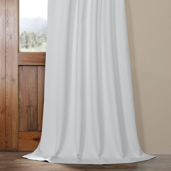 White Oyster 84 x 50 In. Faux Linen Blackout Curtain Single Panel, image 5