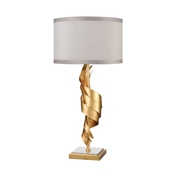 Shake It Off Gold Leaf with Polished Nickel One-Light Table Lamp, image 2