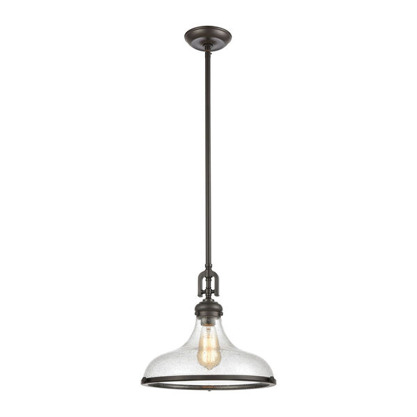 Rutherford Oil Rubbed Bronze One-Light Pendant, image 1