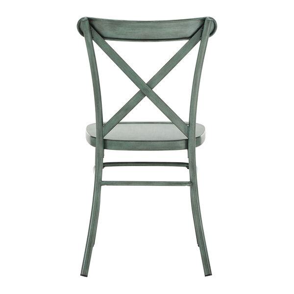 Roman Green Metal Dining Chair, image 3