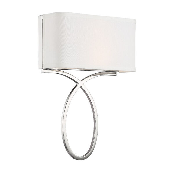 Brinkley Polished Nickel 10-Inch Two-Light Wall Sconce, image 2