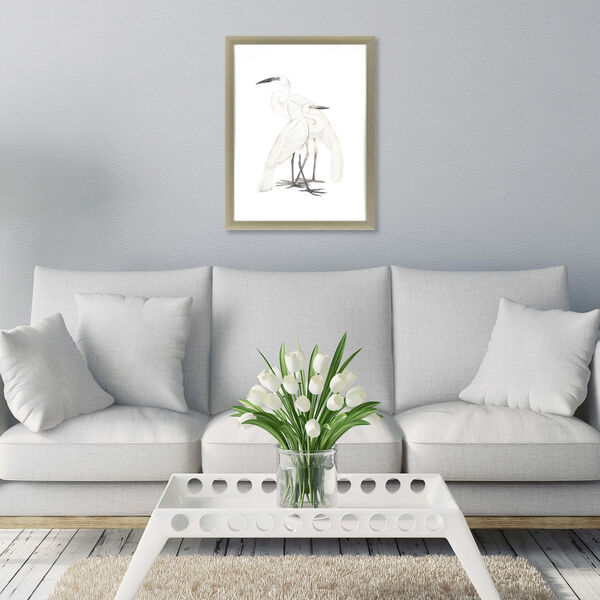 Black Billed Heron White Framed Art, image 1