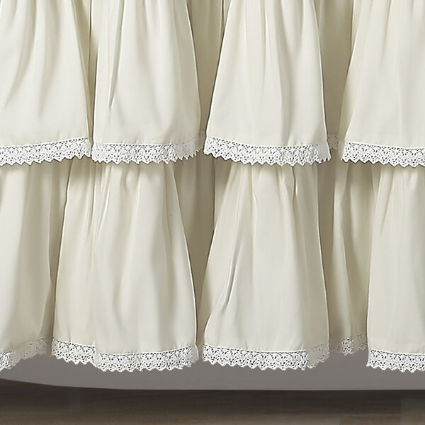 Lace Ruffle Ivory 72 In. Shower Curtain, image 3