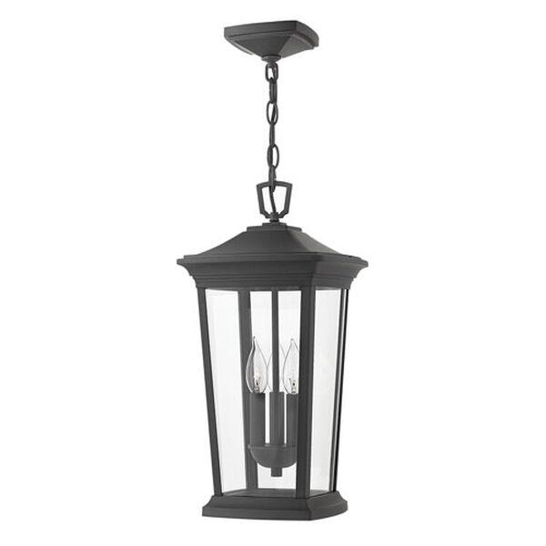 Bromley Museum Black Three-Light LED Outdoor Pendant, image 1