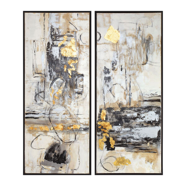 Life Scenes Abstract Art, Set of Two, image 2