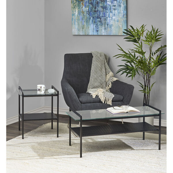Pearson Black Two-Tiered Coffee Table, image 2
