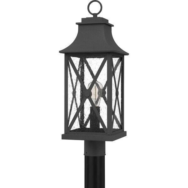 Ellerbee Mottled Black One-Light Outdoor Post Mount, image 2