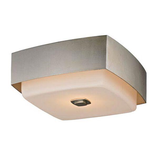 Nina Silver Leaf Two-Light 13-Inch Square Flush Mount, image 1