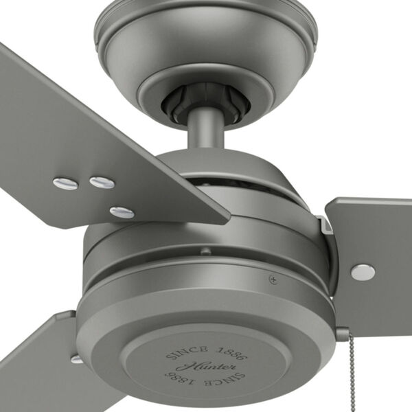 Cassius Matte Silver 52-Inch Outdoor Ceiling Fan, image 4