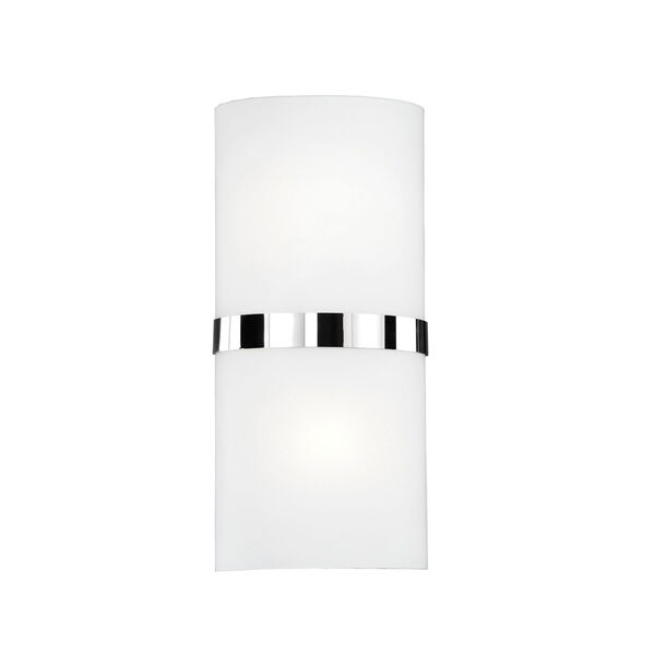 Chrome 13-Inch One-Light LED Sconce with White Opal Glass, image 1