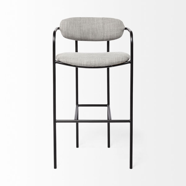 Parker Gray and Black Bar Height Stool, image 2