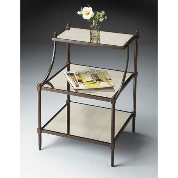 Metalworks Tiered Side Table, image 1