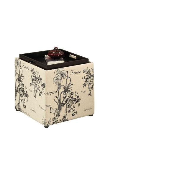 Designs4Comfort Botanical Storage Ottoman, image 1