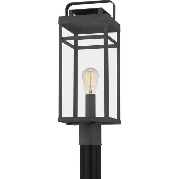 Keaton Mottled Black One-Light Outdoor Post Mount, image 5