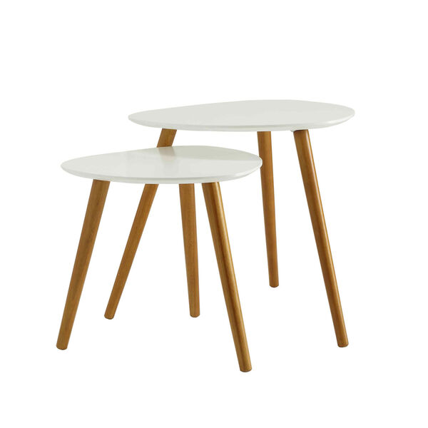 Oslo White Nesting End Tables, image 1