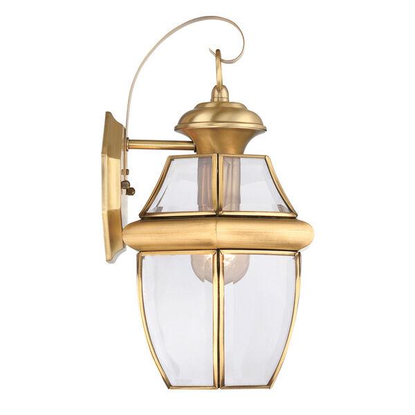 Newbury Polished Brass 14-Inch Outdoor Wall Lantern, image 4