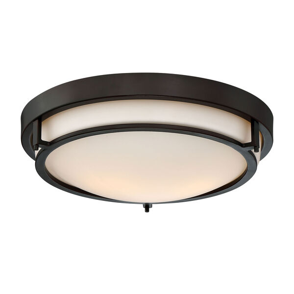 Nicollet Rubbed Bronze Two-Light Flush Mount, image 2