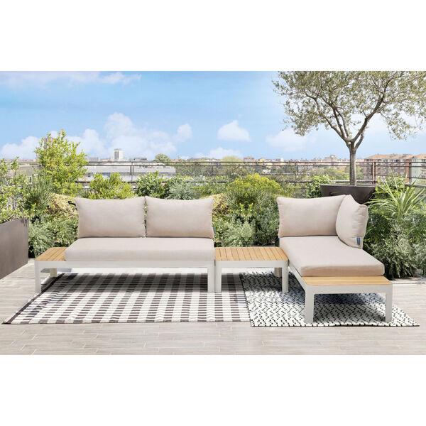 Portals Teak Matte Sand Three-Piece Outdoor Furniture Set, image 6