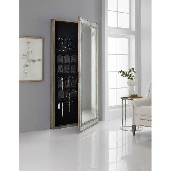 Melange McAlister Silver Floor Mirror with Jewelry Storage, image 1