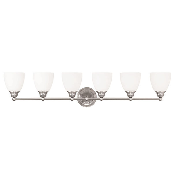 Somerville Brushed Nickel 42-Inch Six-Light Bath Light, image 1