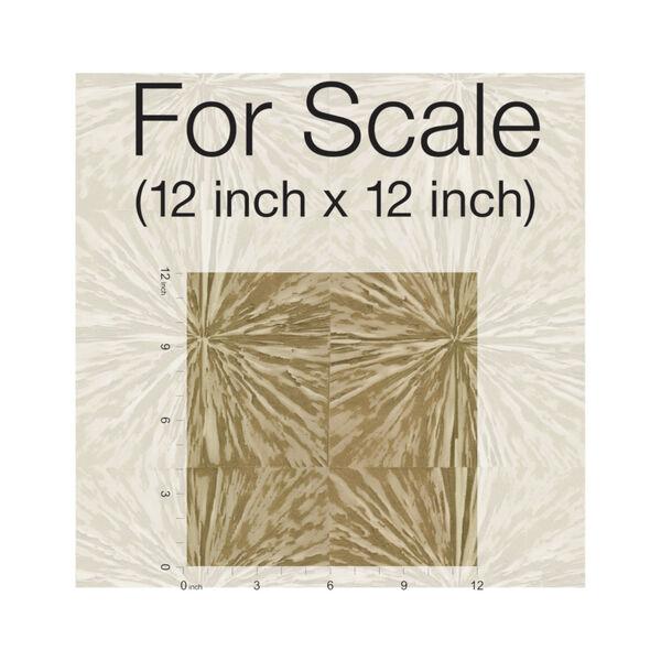 Antonina Vella Elegant Earth Gold Squareburst Geometric Wallpaper, image 3