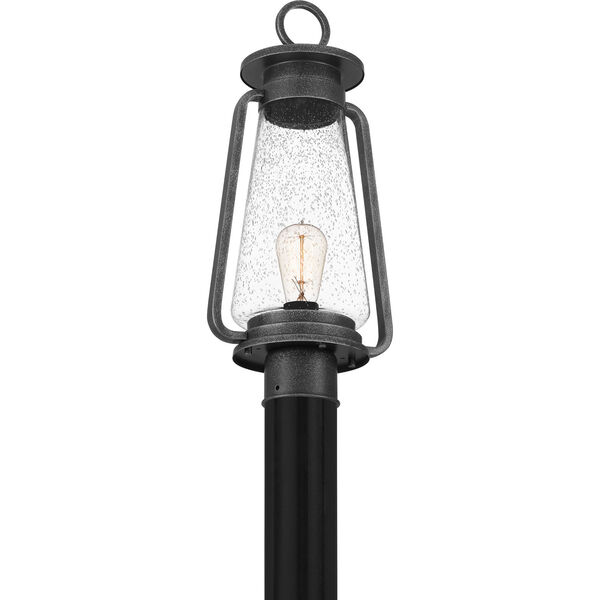 Sutton Speckled Black One-Light Outdoor Post Mount, image 5