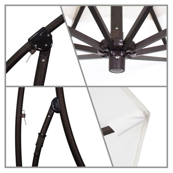 Bayside Bronze with Wheat Nine-Feet Sunbrella Patio Umbrella, image 2