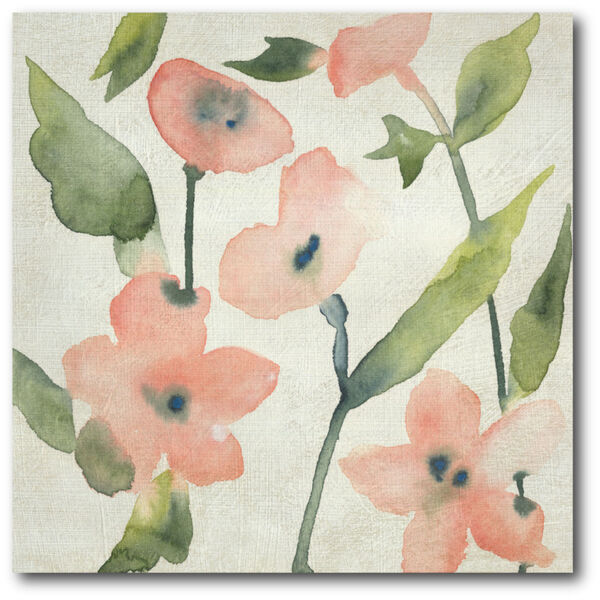 Blush Pink Blooms I Gallery Wrapped Canvas, image 2