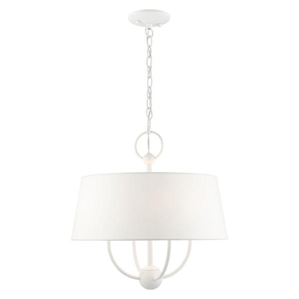 Ridgecrest White Four-Light Chandelier, image 3