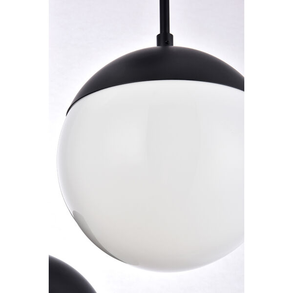 Eclipse Black and Frosted White 18-Inch Three-Light Pendant, image 5