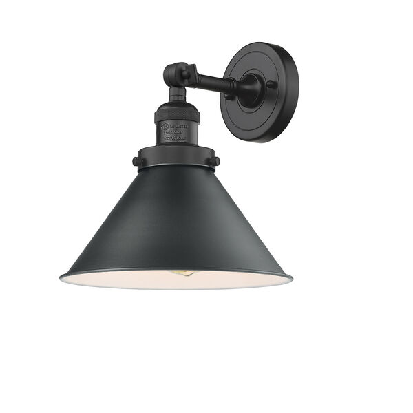 Briarcliff Matte Black One-Light Wall Sconce, image 1