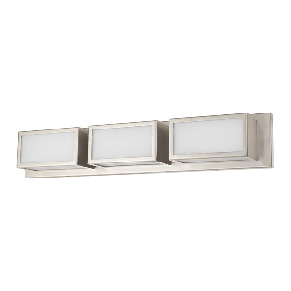 Sutter Brushed Nickel 24-Inch ADA Bath Vanity with Hand Blown Satin Opal White Glass, image 2