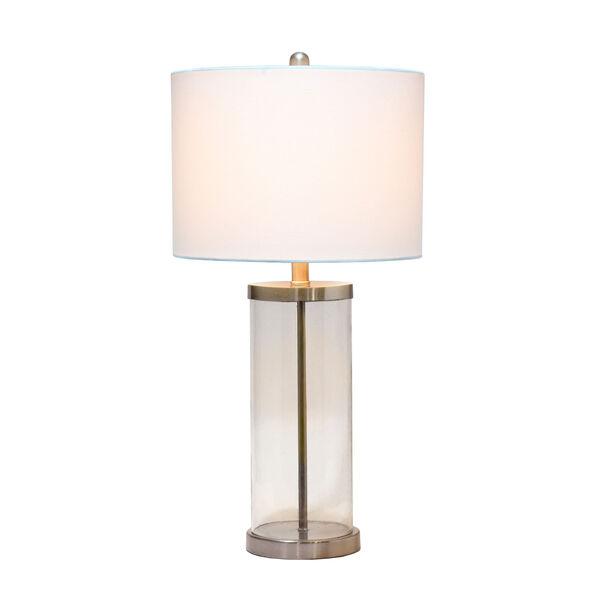 Cerise Brushed Nickel White One-Light Table Lamp, image 2