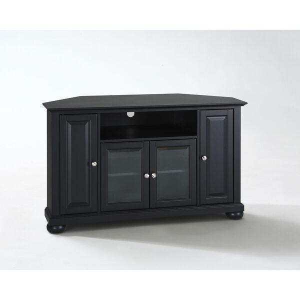 Alexandria 48-Inch Corner TV Stand in Black Finish, image 2