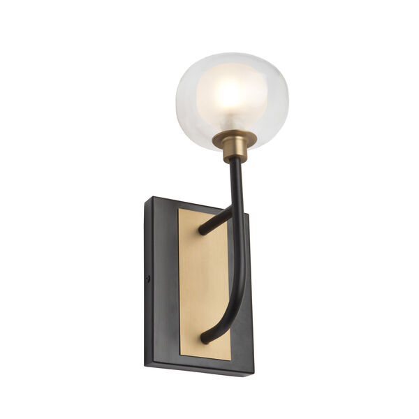 Grappolo Matte Black and Vintage Gold LED Wall Sconce, image 1