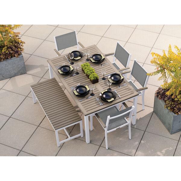 Travira Coated Aluminum Frame 63-Inch Rectangular Dining Table, image 2